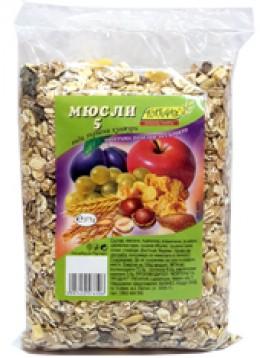 Мюсли 5 вида зърна 375гр